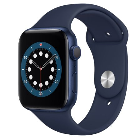 Apple Watch Series 6 44 mm A2291 MG143LL / A GPS - Blue Aluminum / Deep Navy - Original Lacrado na Caixa - 1 Ano de Garantia Apple