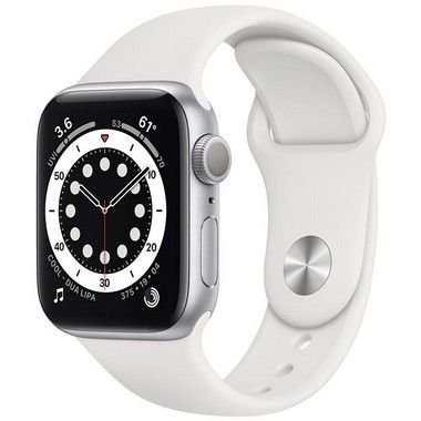 Apple Watch Series 6 44 mm A2291 MG283LL / A GPS - Silver Aluminum / White Sand - Original Lacrado na Caixa - 1 Ano de Garantia Apple