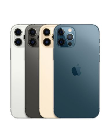 "Apple iPhone 12 Pro 128GB Super Retina XDR OLED de 6.1"" Dual de 12MP / 12MP iOS - Original Lacrado na Caixa - 1 Ano de Garantia Apple - MGML3BZ/A"