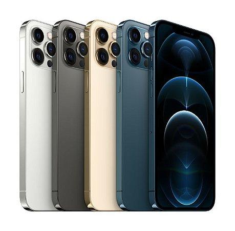 """Apple iPhone 12 Pro Max 128GB Super Retina XDR OLED de 6.7"""" Dual de 12MP / 12MP iOS - Original Lacrado na Caixa - 1 Ano de Garantia Apple - MGML3BZ/A"""