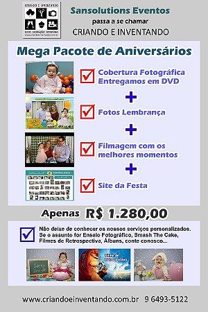 Pacote Foto e Vídeo para Aniversários Infantis
