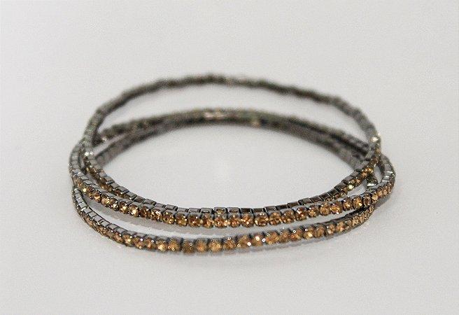 Trio de pulseiras em brilhante