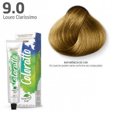 COLORAÇÃO SEM AMÔNIA COLORATTO 60G LOURO CLARÍSSIMO 9.0