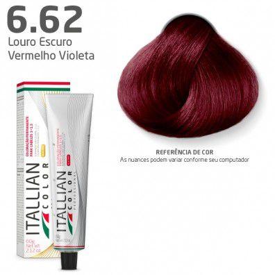 COLORAÇÃO ITALLIAN COLOR 60G LOURO ESCURO VERMELHO VIOLETA 6.62