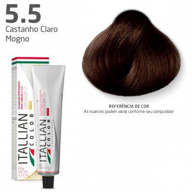 COLORAÇÃO ITALLIAN COLOR 60G CASTANHO CLARO MOGNO 5.5