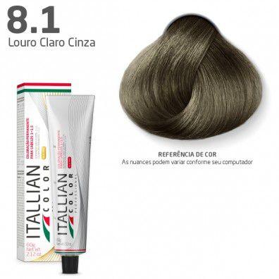 COLORAÇÃO ITALLIAN COLOR 60G LOURO CLARO CINZA 8.1