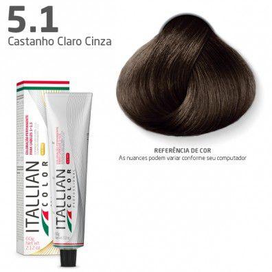 COLORAÇÃO ITALLIAN COLOR 60G CASTANHO CLARO CINZA 5.1