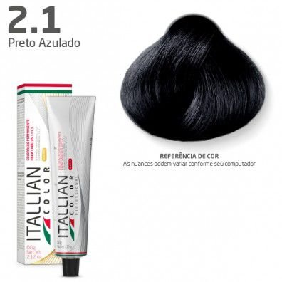 COLORAÇÃO ITALLIAN COLOR PROFESSIONAL 60G PRETO AZULADO 2.1