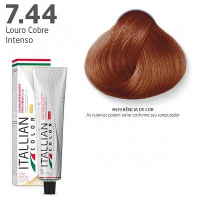 COLORAÇÃO ITALLIAN COLOR 60G LOURO COBRE INTENSO 7.44