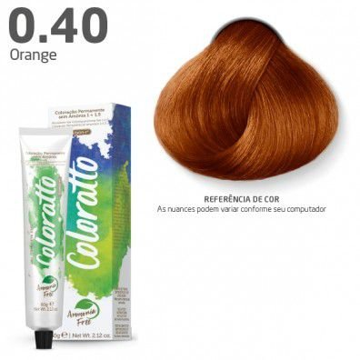 COLORAÇÃO SEM AMÔNIA COLORATTO 60G HOT ORANGE 0.40