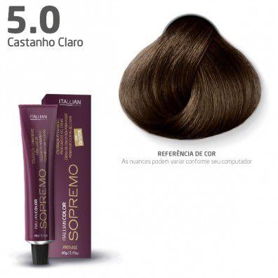 COLORAÇÃO ITALLIAN COLOR SOPREMO 60G CASTANHO CLARO 5.0