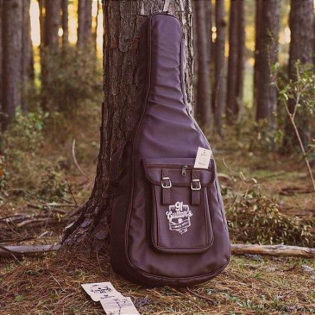 Semi Case Violão Folk e Clássico 91 Guitar's 6ª Geração Marrom