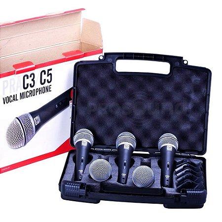 Microfone SUPERLUX PRA C5 - Kit com 5 Peças