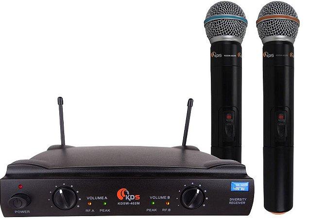 Microfone sem fio KADOSH KDSW 402M Duplo Bastão