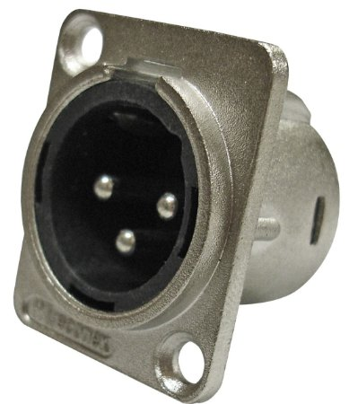 Conector XLR Macho Painel WC 1033 WIRECONEX