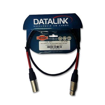Cabo Microfone Xlr Xlr Datalink Balanceado Garage 0,30 mm² 1 Metro