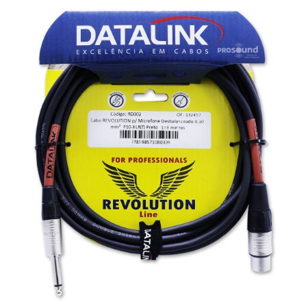 Cabo Microfone Xlr P10 Datalink Desbalanceado Speak 0,30 mm² 3,05 Metros