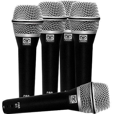 Microfone SUPERLUX PRA D5 - Kit com 5 Peças