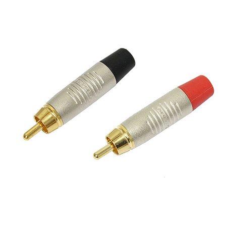 Plug RCA Macho Linha RT2C AU NEUTRIK REAN