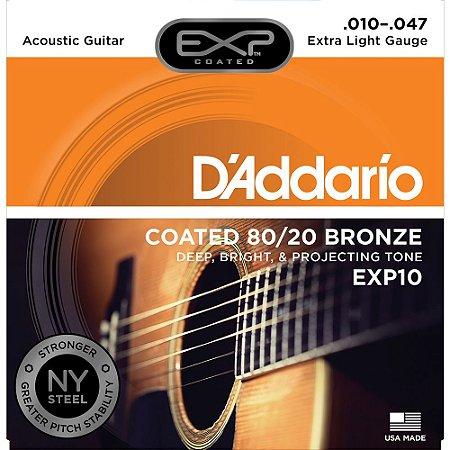 Encordoamento Violão Aço D'Addario EXP10 010