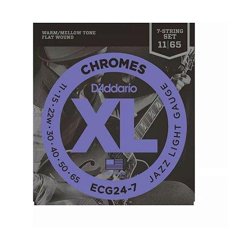 Encordoamento Guitarra D'Addario ECG24 7 011 Chromes