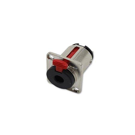 Conector Jack P10 Estéreo Painel DLK