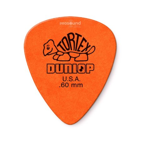 Palheta Dunlop Tortex 0,60 mm Laranja