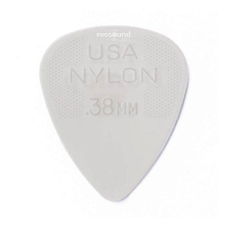 Palheta Dunlop Nylon USA Jim 0,38 mm Branca
