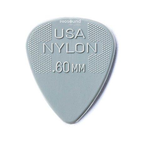 Palheta Dunlop Nylon USA Jim 0,60 mm Cinza Claro