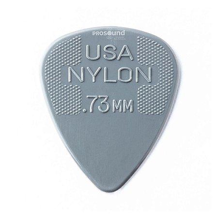 Palheta Dunlop Nylon USA Jim 0,73 mm Cinza