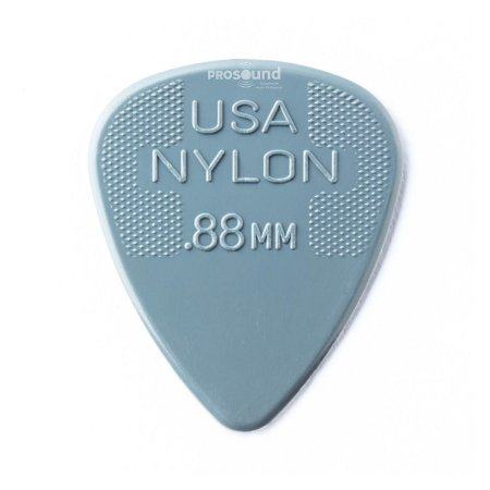 Palheta Dunlop Nylon USA Jim 0,88 mm Cinza Escuro