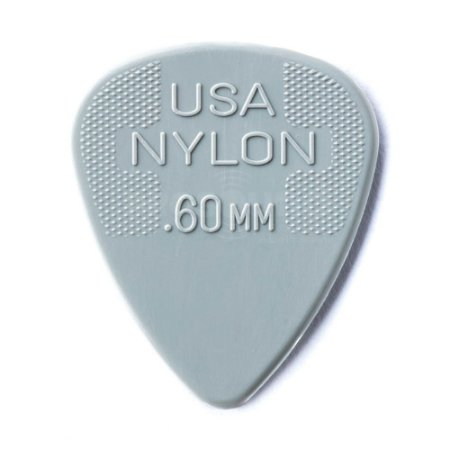 Palheta Dunlop Max Grip 0,60 mm Nylon Cinza