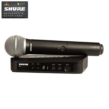 Microfone Sem Fio SHURE BLX 24 BR / PG58 J10