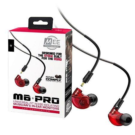 Fone de Ouvido Mee Audio M6 PRO G2 2ª Geração Red