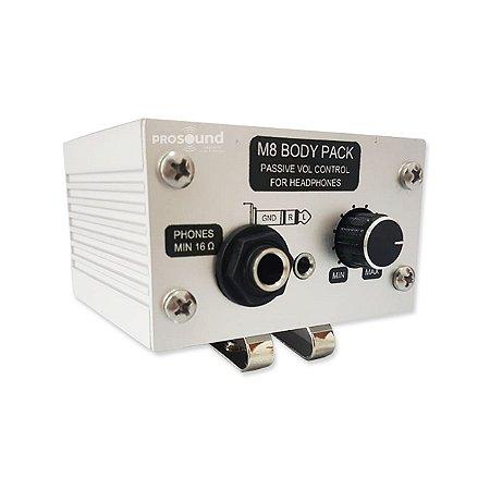 Body Pack EAM M8 V2 Passivo para Fone