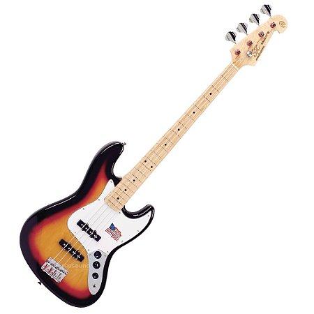 Contrabaixo SX SJB75 ASH Jazz Bass Passivo 4 Cordas Sunburst 3ts