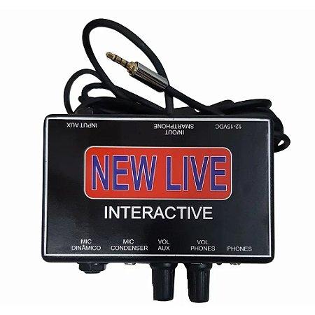 Interface De Áudio New Live Interactive