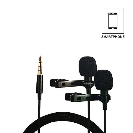 Microfone Kadosh KL2 para Smartphone - Duplo Lapela