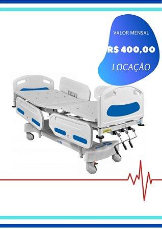 CAMA HOSPITALAR MANUAL - 3 MANIVELAS GRADE PLÁSTICA