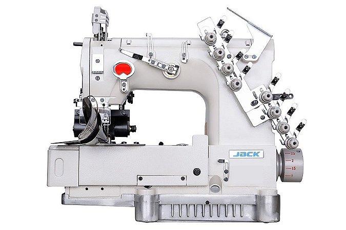 Máquina Elastiqueira/ Cos Jack 4 agulhas JKHF800904064254P Motor Eletrônico