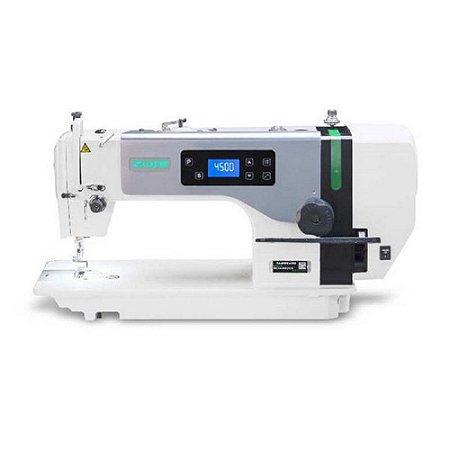 Máquina de Costura Reta com Parada de Agulha motor direct drive e caixa acoplada Zoje ZJA6000