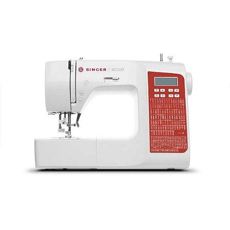 Máquina de Costura Singer Doméstica SC220RD Bivolt - Branca
