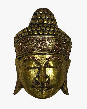 Máscara Decoração de Parede Buda Decorativo Bali 30cm