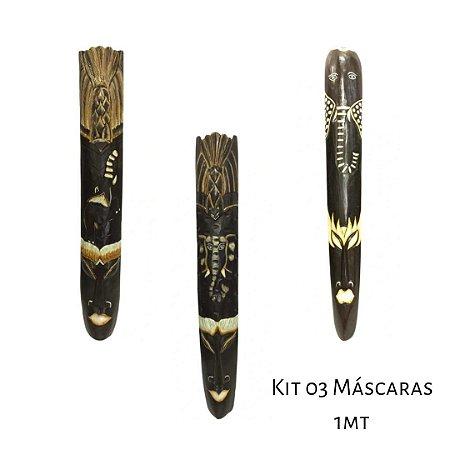 KIt com 03 Carrancas Balinesas para decoração 1 metro