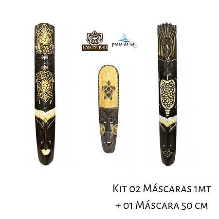 Kit Decoração 02 Máscaras 01Metro + 01 Máscara 50 cm