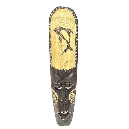 Máscara de Madeira Bali 50 cm Golfinho