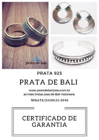 Garantia Prata de Bali Jóias