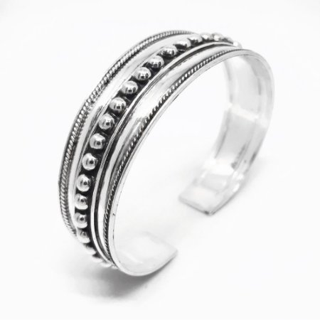 Bracelete em Prata Bali 925 Feito a Mão (MADE IN BALI / INDONÉSIA)