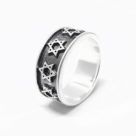 Anel em Prata 925 Estrela de Davi