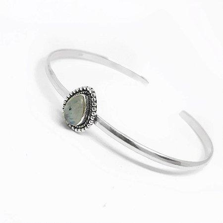 Bracelete em Prata Bali 925 com Pedra da Lua